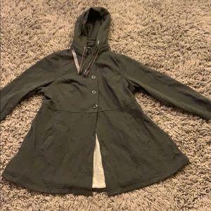 Torrid gray hooded sweater jacket size 0
